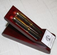 IRISH COLLECTION BOG OAK PENS - Gold Set
