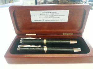 Ambassador Classic Silver Rollerball pen set