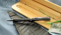 RHODIUM BOG OAK TWIST PEN