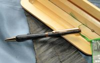 TITANIUM GOLD BOG OAK TWIST PEN